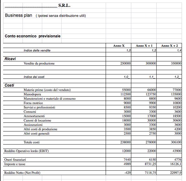 srl business plan