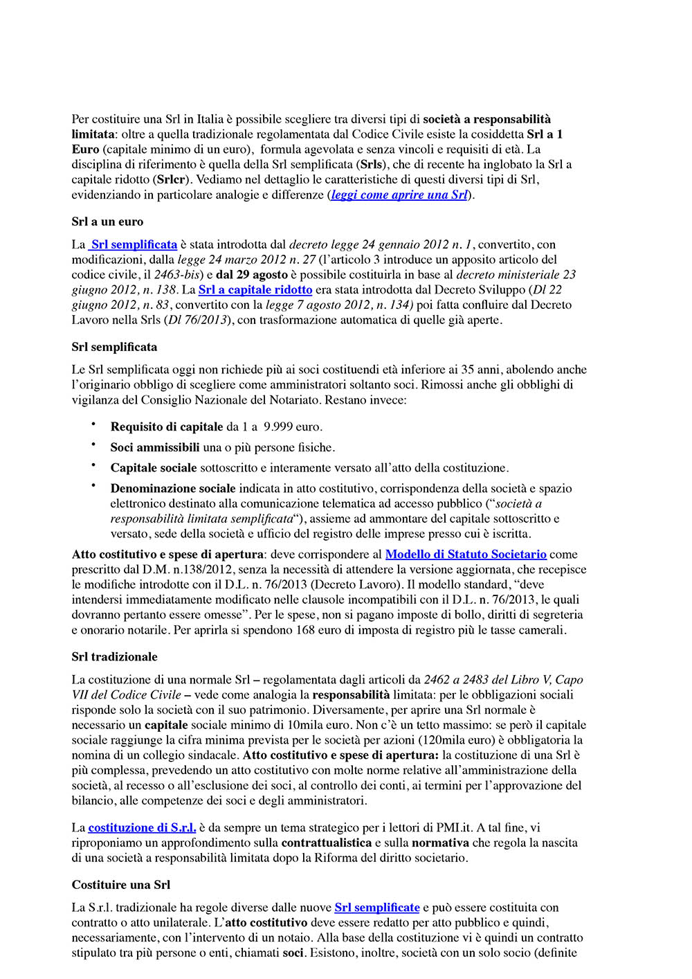 Guide e moduli per le societ for Costo atto notarile