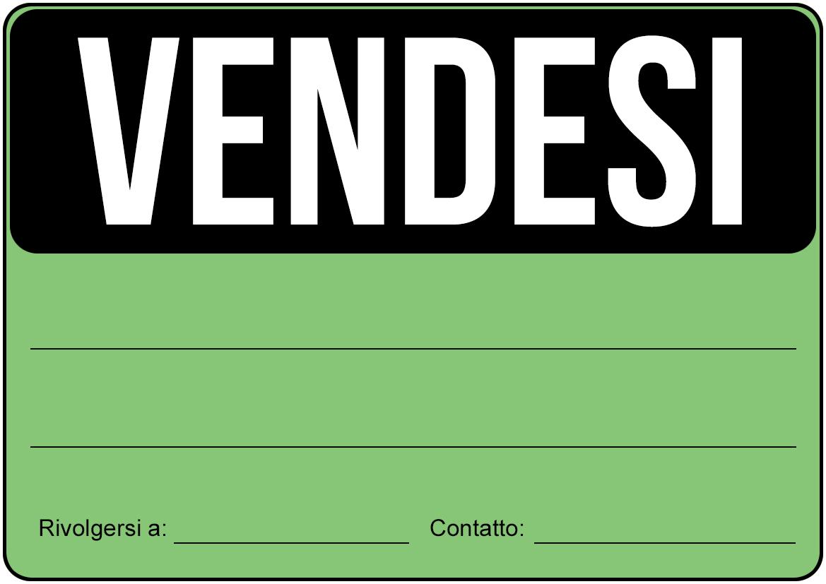 Cartello vendesi da stampare gratis for Vendesi ufficio roma