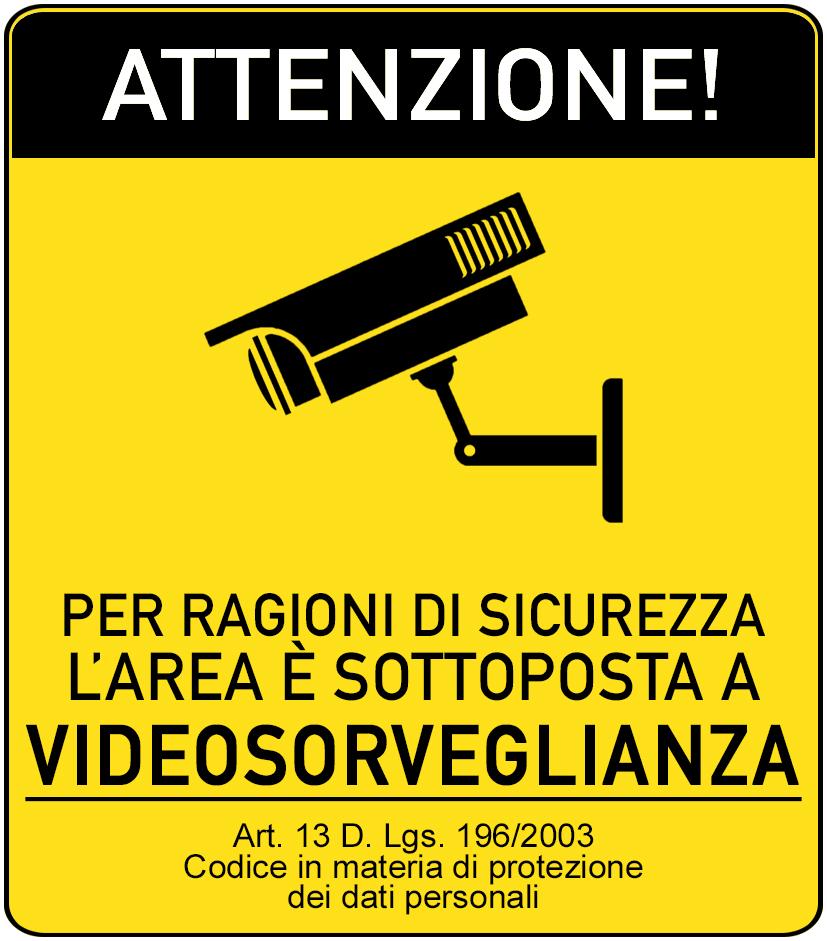 cartello videosorveglianza da